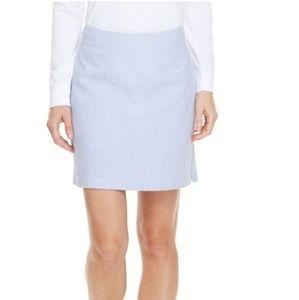 Vineyard Vines Blue Seersucker Skirt Skort NWT